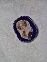 Victorian style fabric brooch - $5.50