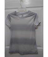 women's Danskin Now loose silver and gray short sleeve athletic top size... - $7.69