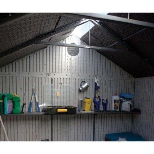 Lifetime 8x10 ft Plastic Shed Kit - Ridge Skylight (60056)
