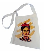 #99 Frida Kahlo Cotton Tote Bag Printed Sack Fair Trade Peru Canvas Scho... - $12.82