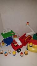 Vintage Rare Little Tikes Toddle Tot Lot Fire Construction Truck cottage... - $69.00