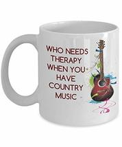 An item in the Pottery & Glass category: Funny Country Western Guitar 11 Oz Ceramic Coffee Mug - Country Music Lover Gift