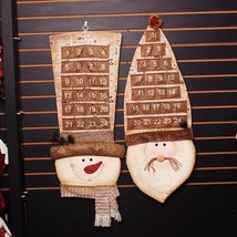 Advent Calendar Big Christmas Decoration Santa Claus Snow Man Hanging De... - $18.99