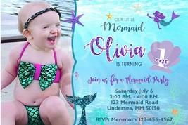 Mermaid birthday invitations | Mermaid invitations | Mermaid party invit... - $8.99