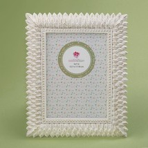 Brushed leaf ivory 5 x 7 frame from gifts by fashioncraft  - $16.99