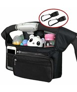 SOPHENA Stroller Organizer with Cup Holders Stroller Hooks Shoulder Stra... - $21.01