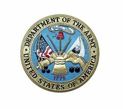 United States Military Department Of The Army Seal Flag Edible Cake Topp... - $9.99