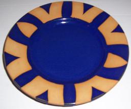 Handmade Ceramic Cobalt Cobalt Blue & Gold Side Plate Signed - KINANDA K... - $55.99