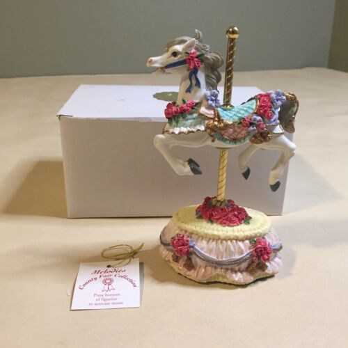 """Heritage House Plays Music """"Yesterday"""" Carousel Horse Country Fair Collection - $18.80"""