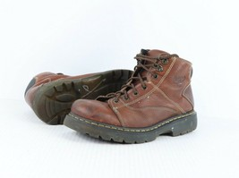Dr Martens Mens Size 12 E 7 Eyelet Lace Up Leather Work Boots Hipster Brown - £37.61 GBP