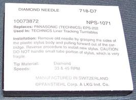 REPLACEMENT STYLUS NEEDLE for PANASONIC TECHNICS EPC-202 EPC-23 24 25 718-D7 image 2