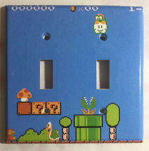 Super Mario brothers Games 8 bit Light Switch Outlet Wall Cover Plate Home Decor image 6