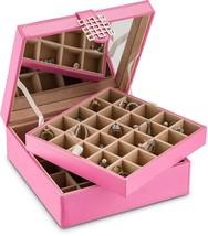 Girls Jewelry Box, Storage Holder For Women Earring Organizer, Pink - €58,27 EUR