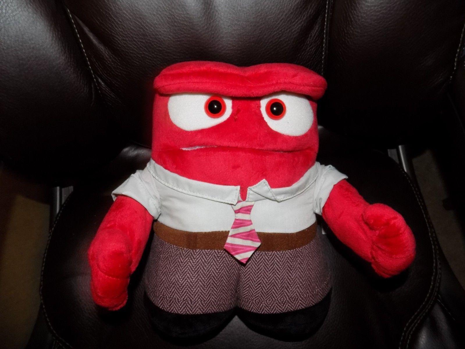 "Animated Talking Anger Doll Disney/Pixar Inside Out Plush 10"" EUC"