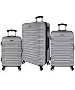 Elite Luggage 3-Piece Hardside Spinner Luggage Set, Silver - $139.78