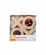 Hand Made Modern XOXO Unfinished Craft Product Wood Photo Frame Ready to... - $9.89