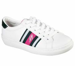 Skechers Shoe Women White Green Memory Foam Comfort Casual Lace Up Sneaker 73814 - $19.99