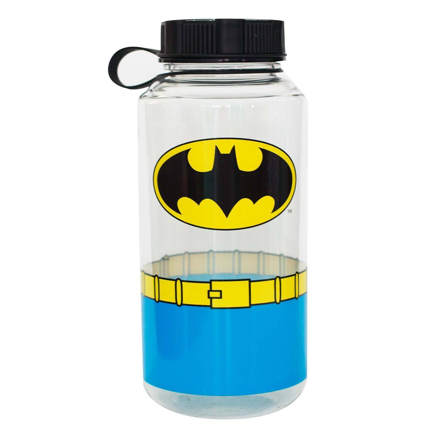 Batman 1000ML Water Bottle Clear
