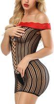Women's Mesh Lingerie Fishnet Babydoll Mini Dress image 2