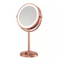 CONAIR Double-Sided with 10x Magnification Lighted Makeup Mirror Rose Gold - $29.69