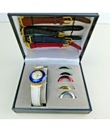 Vintage Ladies PIERRE NICOL Multi Face and Band Watch Set w/Case - $17.53
