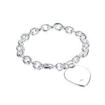 Glamorousky Simple Elegant Fashion Romantic Heart Shape Bracelet - $27.98