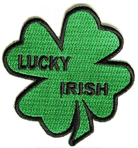 Lucky Irish Shamrock Embroidered Patch - 3 inch