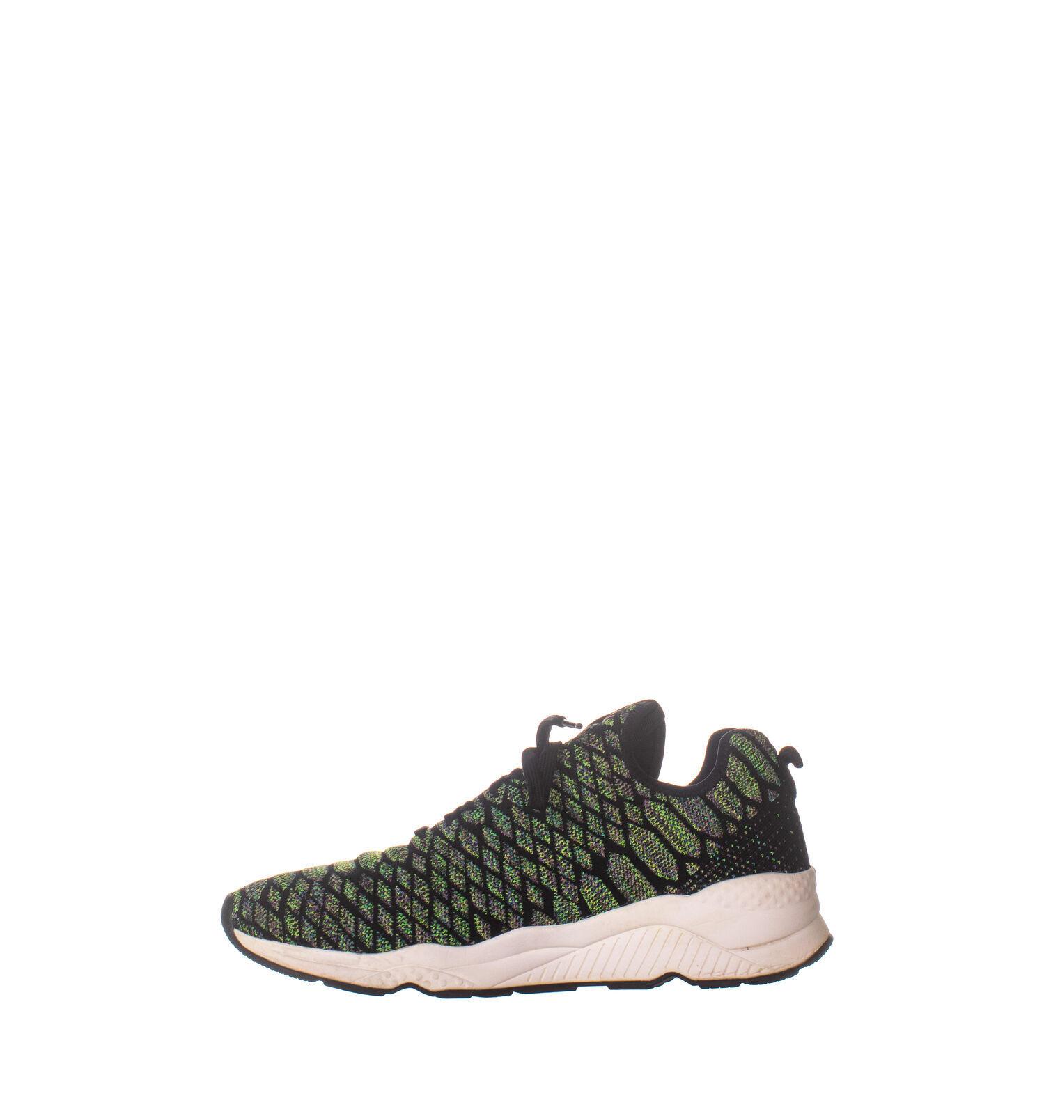 Ash 1067 Lace Up Low Top Sneakers, Green Black 069, Green Black, 41 EU