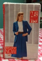 1990 Butterick Sewing Pattern 5247 SZ 6-14 Jacket Top Skirt Uncut - $5.45