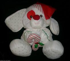 Vtg 1990 Fisher Price Christmas Holiday Puppy Dog Puffalump Stuffed Animal Plush - $28.05