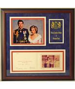Princess Diana & Prince Charles Signed Framed Christmas Card Display JSA... - $3,312.49