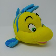 "Vintage Mattel Disney Little Mermaid Flounder Fish Plush Friend Ariel 10"" EUC - $18.66"