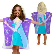 Kids Hooded Bath Towel Cotton Frozen Elsa Toddler Girl Beach Pool Bathrobe - $31.94