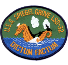 "5"" NAVY USS SPIEGEL GROVE LSD-32 EMBROIDERED PATCH - $23.74"