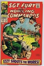 Sgt Fury and His Howling Commandos #54 ORIGINAL Vintage 1968 Marvel Comics - $14.84
