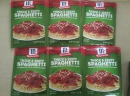 6 packets of McCormick Thick And Zesty Spaghetti Sauce Mix - 1.37oz 07/22 - $29.98