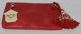 Handbag Republic Brand HG0024 Red Vegan Womens Purse With Large Tassel Detail image 3