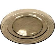 "Arcoroc France Smoke Gray grey Plate - 7 1/2"" - $13.95"