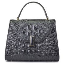 Crocodile Embossed Italian Leather Satchel Croco Crossbody Shoulder Bag ... - $169.95