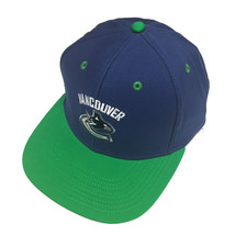 Reebok NHL Vancouver Canucks Hat Blue Vintage Logo Flat Bill Snapback Cap OSFA - $18.80