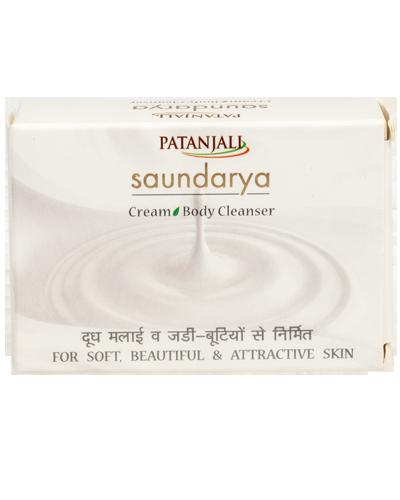 PATANJALI SAUNDARYA CREAM BODY CLEANSER  SOAP BAR- 75gm