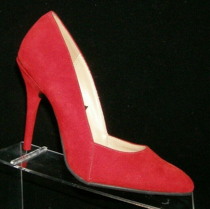 Forever 21 red man made pointed toe v-cut slip on classic pump heel 9M 6828 - $23.95