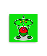 Green Shiny Robot Alien 3 Eyes Red Star Home Office Studio Classroom Can... - $54.50+