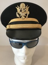 US Army Enlisted Mens Dress Blues Hat Kingform Size 7 - $46.75