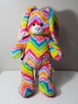 "Build A Bear 'Stripes A Lot' 17"" Rainbow Chevron Bunny Rabbit Plush BABW - $25.00"