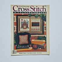 Cross Stitch & Country Crafts Magazine September October 1986 School We... - $3.95
