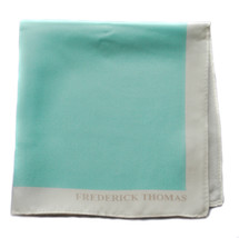 Frederick Thomas 100% Seta Turchese Fazzoletto quadrato da taschino ft1667