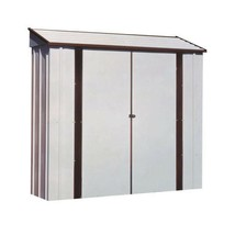 Metal Storage Shed Barn 7 x 2 Lockable Double Door Latch White Outdoor G... - $388.44