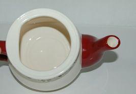 Bella Casa by Ganz Christmas Teapot mug Set White Dark Red image 4