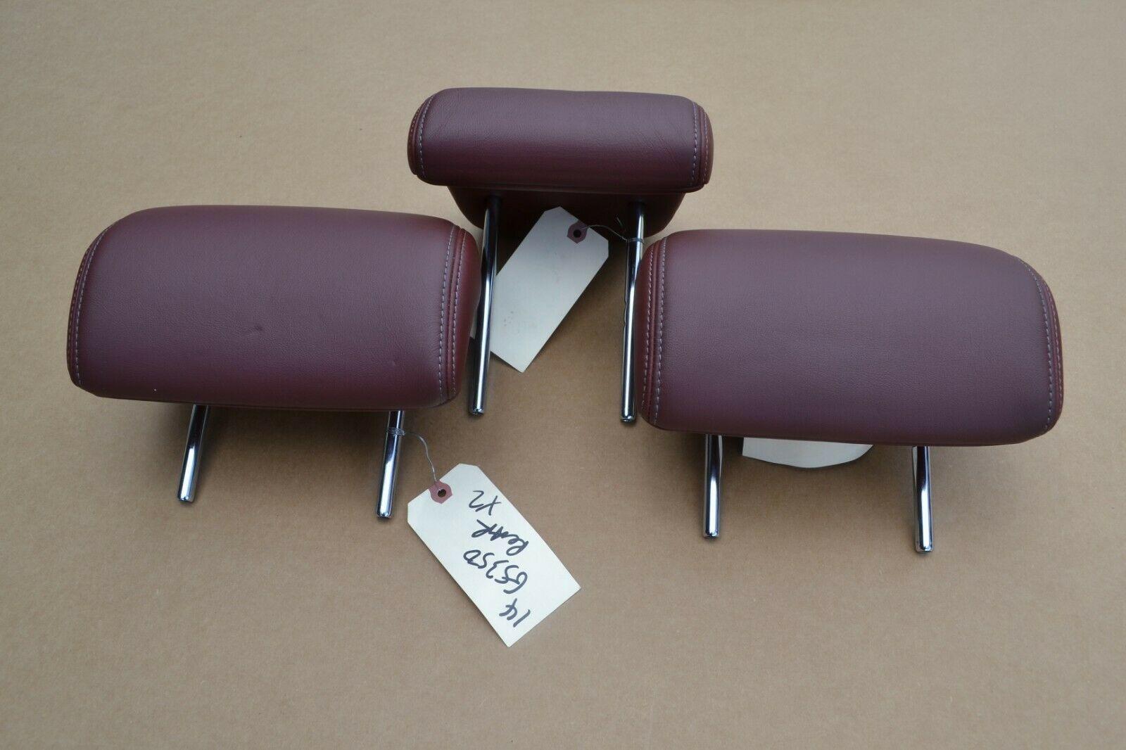 13 14 15 Lexus GS350 FSport  Rear Seat Leather Head Rest Set Red Oem  - $210.01